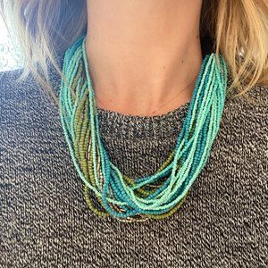 Chunky Beaded Layer Necklace
